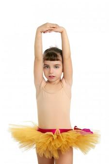 Ballerina little girl portrait posing