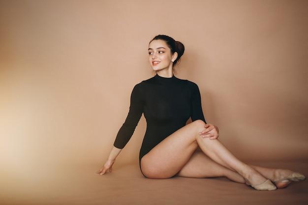 Ballerina woman in studio