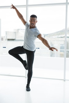Ballerino practising ballet dance
