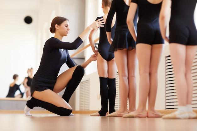 Урок балета для маленьких девочек