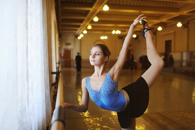 Ballet dancer in a ballet class