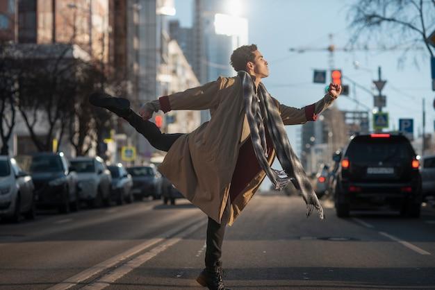 Ballet dancer in elegant position