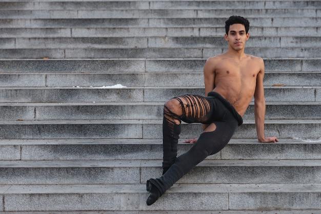 Ballet dancer in graceful position