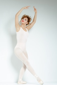 Ballet dancer in studio