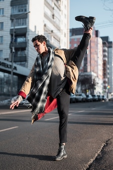 Ballet performer on streets