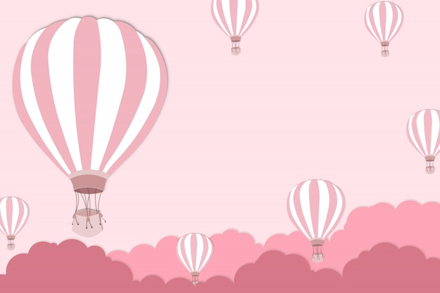 Balloon artwork for international balloon festival - pink balloon on pink sky background