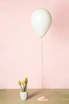 Balloon and cactus