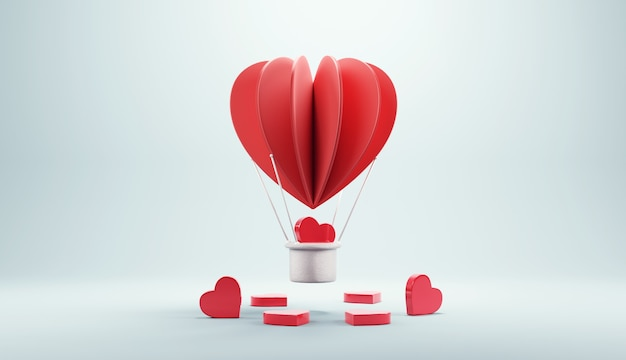 Balloon flying with heart