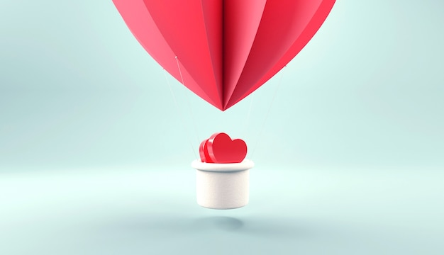 Balloon flying with heart.