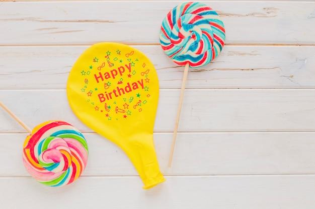Balloon an lollipops