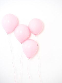 Balloon pink color pastel on gray