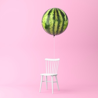 Balloon watermelon with chair concept
