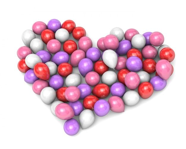 Воздушные шары в форме сердца