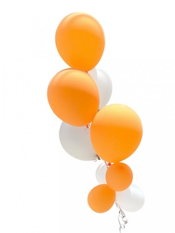Balloons for party decoration isolated on white