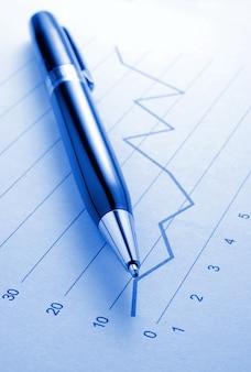 Ballpoint pen and chart