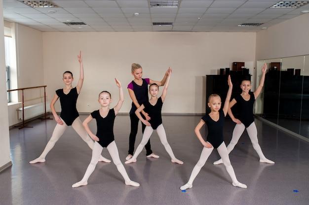 Ballroom dancing lesson, kids