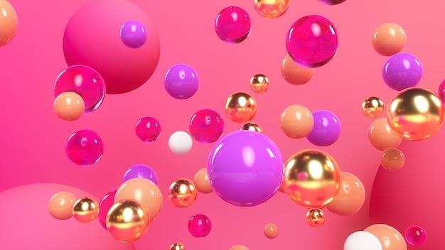Balls background 3d illustration