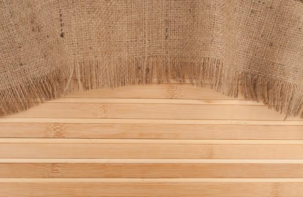 Бамбук и мешковина фон