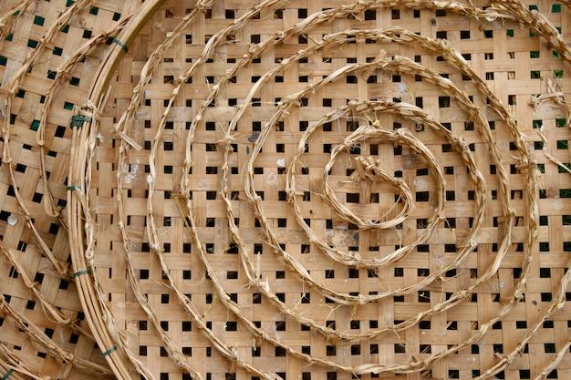 Bamboo basket for silkworms nest