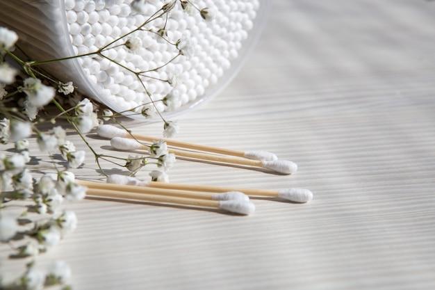 Bamboo cotton sticks