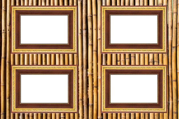 竹のフェンスパターンの背景