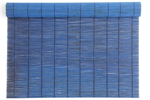 Bamboo mat on an isolated white