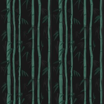 竹の植物。印刷する準備ができている壁紙のシームレスなパターン