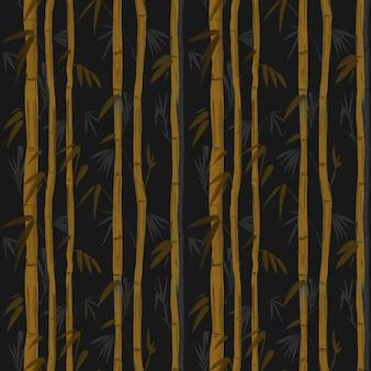 Бамбуковое растение. бесшовный фон для обоев готов к печати