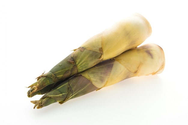 Bamboo shoot isolated