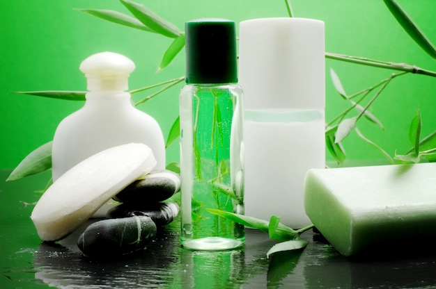 Bamboo spa accesories