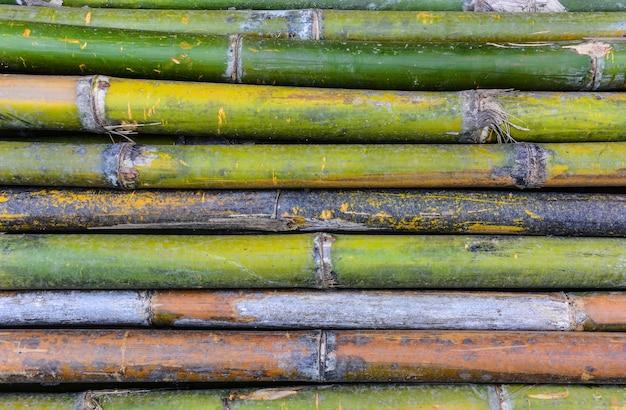 水平方向の竹のテクスチャ背景