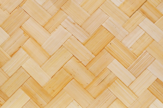 Bamboo texture of basket weave pattern
