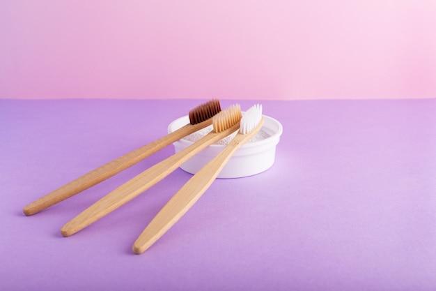 Бамбуковые зубные щетки средство для чистки зубов зубной порошок