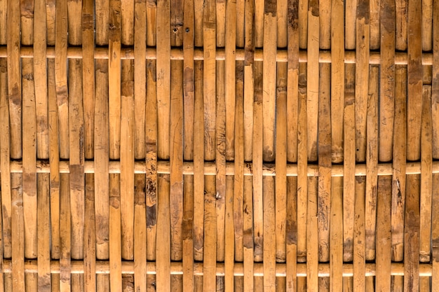 Bamboo wall weave thai folk art