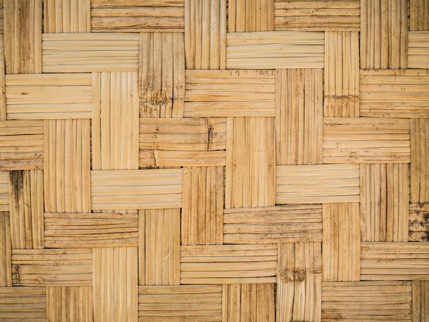 竹の木の質感、タイの手仕事