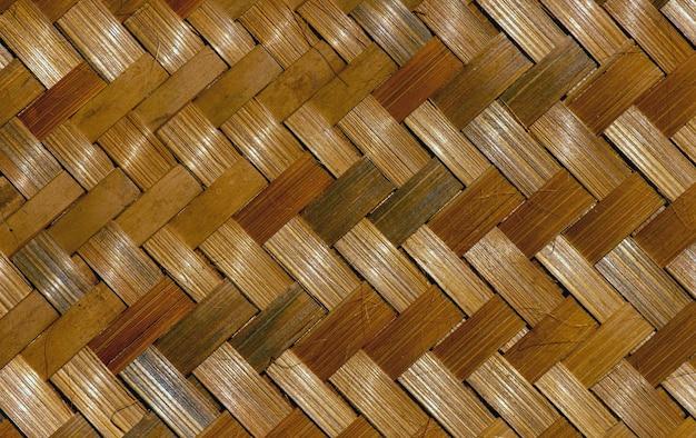 部屋の装飾と部屋の背景のための竹織物工芸品。