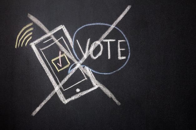 디지털 온라인 투표 금지