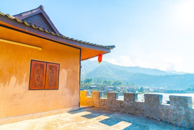 Бан рак тай, китайское поселение в мае хонг сон, таиланд.