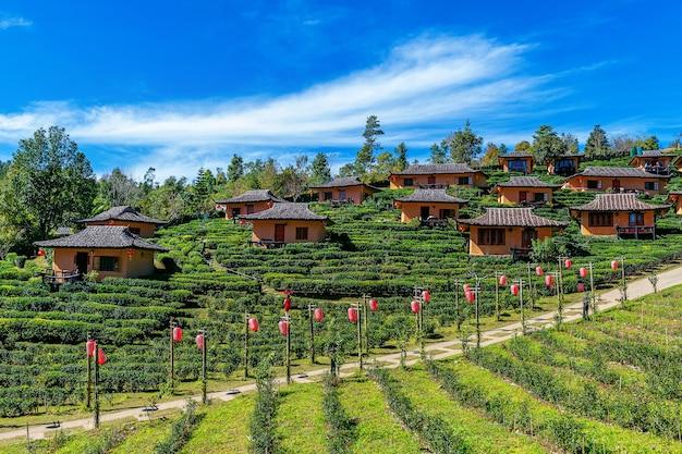 タイのメーホンソンでバーンラックタイ。