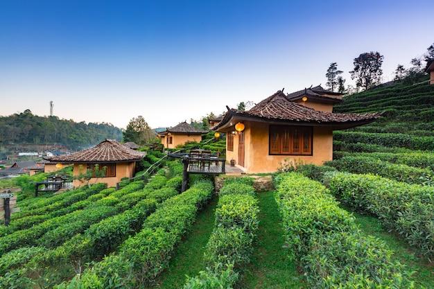 Ban rak thai village,  mae hong son province northern thailand.