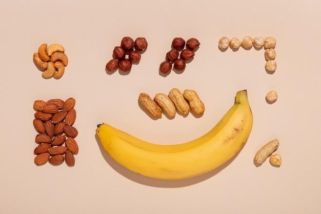 バナナとナッツのアレンジメント