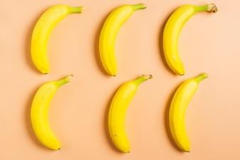 Banana background of six