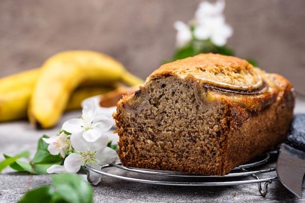 Banana bread or loaf cake