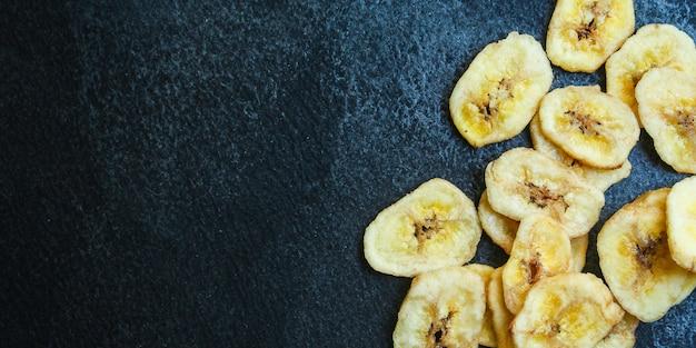 Banana chips sweet dried food snack