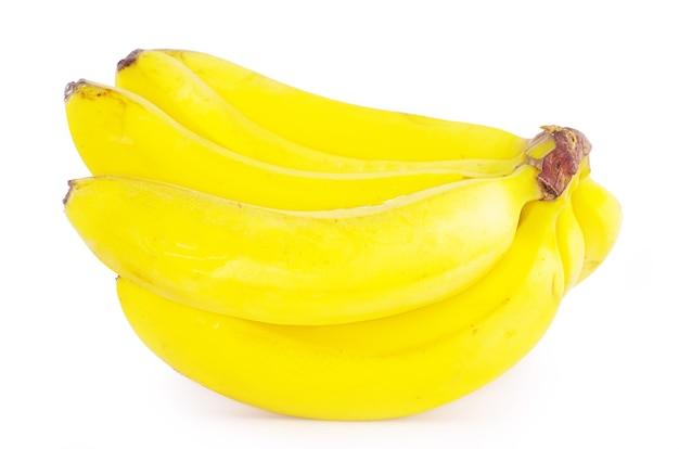 바나나 과일 흰색 배경에 고립