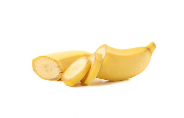 Банан изолированы. свежие фрукты