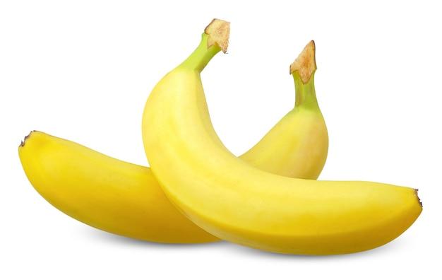 白い背景に分離されたバナナ。バナナクリッピングパス
