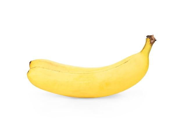 白い背景、クリッピングパス、完全な被写界深度で分離されたバナナ