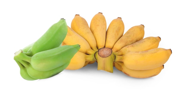 白に分離されたバナナ。