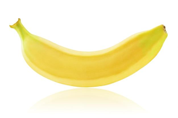 Банан на белом фоне, изолированные. сфотографировал бананы на стопке. хорошая, детальная обработка фото.